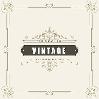 Molde do cartão do ornamento do vintage