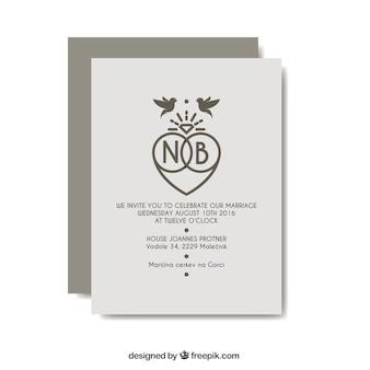 Molde do convite do casamento