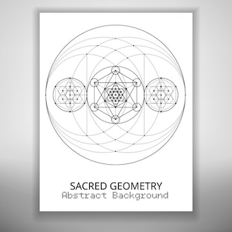 Molde do folheto abstrato com o desenho da geometria sagrada