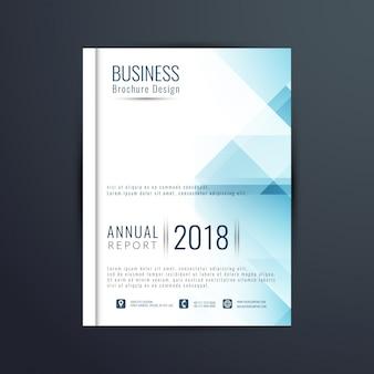 Molde do folheto do relatório anual azul abstrato