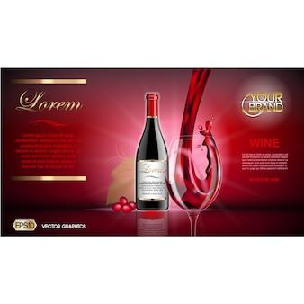 Molde do folheto do vinho