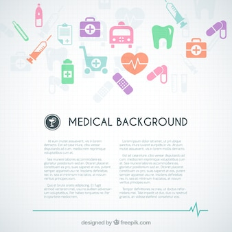 Molde do fundo médica