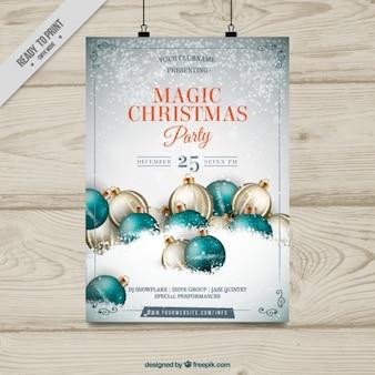 Molde do partido Poster do Natal