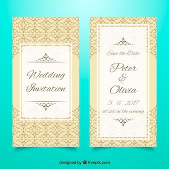 Molde elegante do convite do casamento