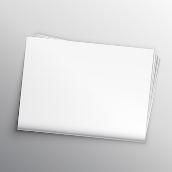Molde em branco do projeto do mockup do jornal