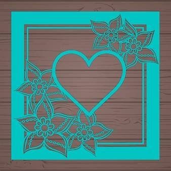Molde floral do cartão