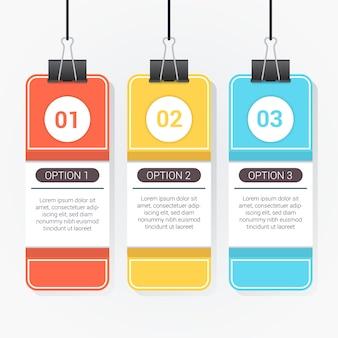 Molde Infográfico com design de cartão