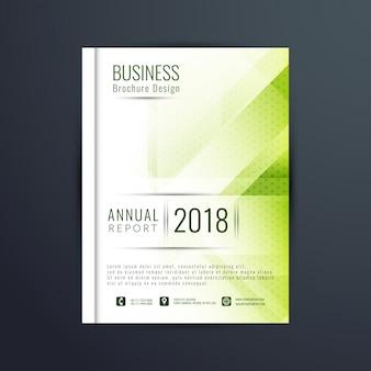 Molde moderno do folheto do negócio da cor verde