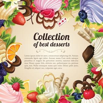 Moldura de sobremesas de doces