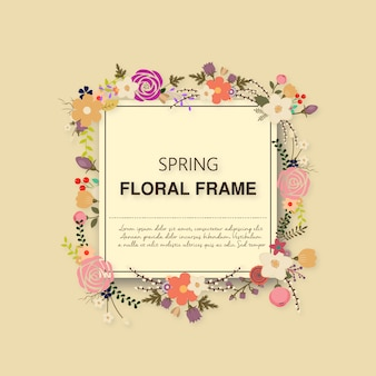 Moldura floral da primavera