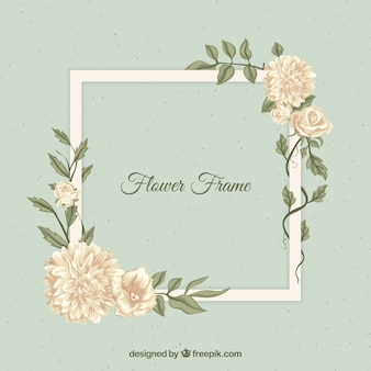 Moldura floral de estilo vintage