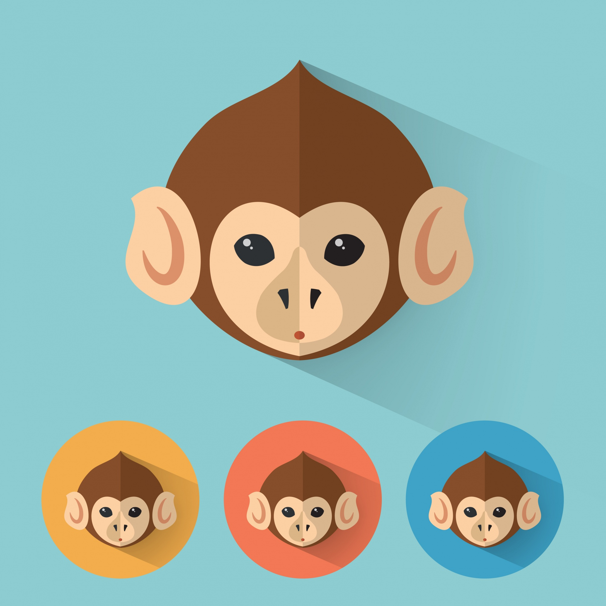 Monkey Animal Portrait