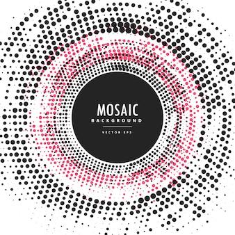 Mosaico reticulação sumário quadro circular fundo