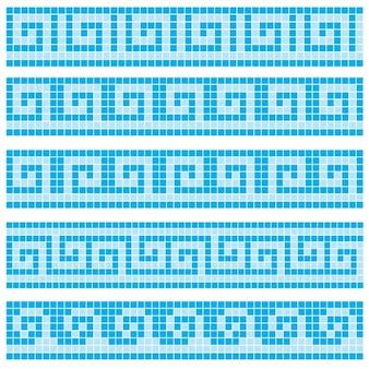 mosaicos azuis