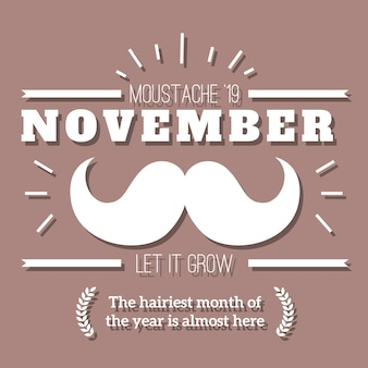 Movember emblema retro