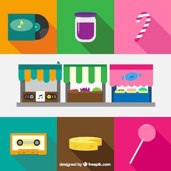 Música, frutas e carrinhos de doces
