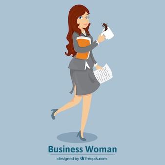 Mulher de negócio à moda