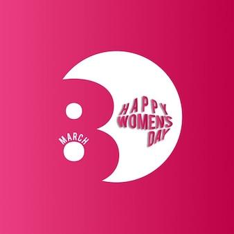 Mulheres felizes do dia 08 de março no fundo vermelho