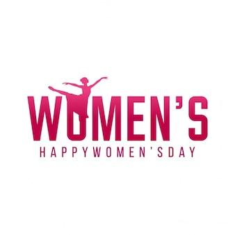 Mulheres felizes do dia simples criatividade no fundo plano