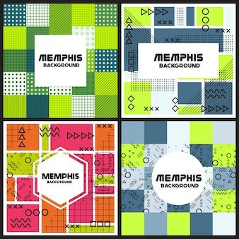 Multicolor flyers design coleção