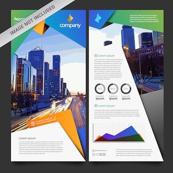 Multicolor negócio brochura