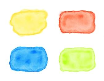 Multicolor pintura manchas coleção
