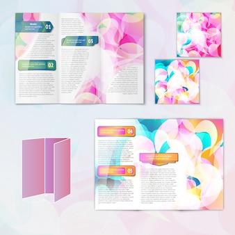 Multicolorido abstrato, moderno, criativo, design, papel, folheto, folheto, modelo, elementos, isolado, vetor, ilustração