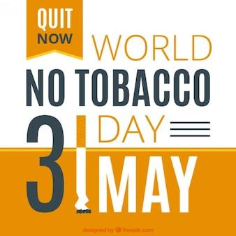 Mundo nenhum projeto de tabaco dia fundo