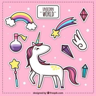Mundo unicórnio rosa