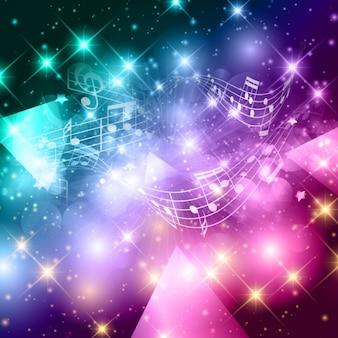 Música de fundo colorido em estilo abstrato
