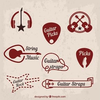 Música e símbolos de rock clássico