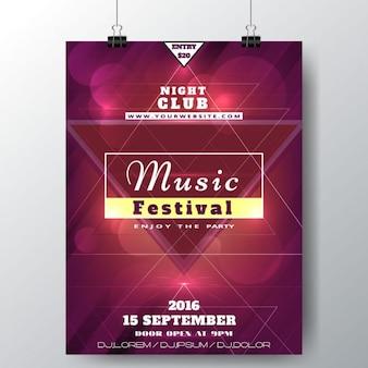 Música modelo de festival poster
