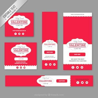 My valentine pacote de banners com fotos