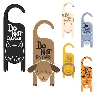 Não perturbe sinais de animais