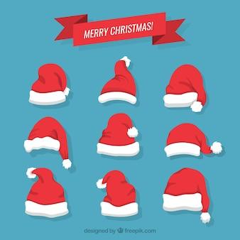 Natal chapéus de Papai Noel
