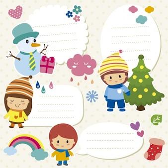 Natal emblemas coleção