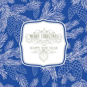 Natal fundo azul