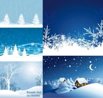Natal neve paisagens