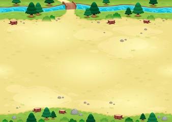 Natureza fundo para jogos Os lados repetir perfeitamente para um infinito ilustração vetorial animação