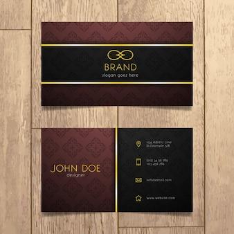 Negócios Luxury Design de cartão