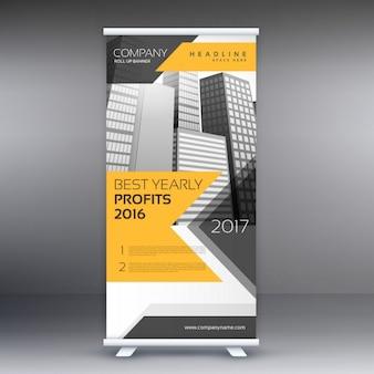 Negócios roll-up apresentação banner modelo
