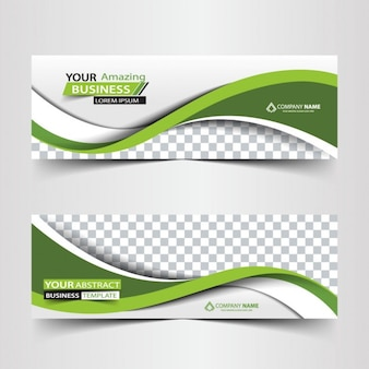 Negócios verdes cabeçalho abstrato