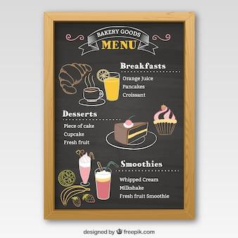 negro do menu da padaria