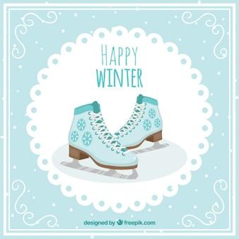 Nice gelo cartão de patinação