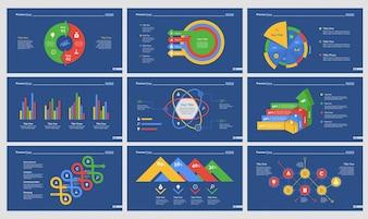 Nine Statistics Slide Templates Set