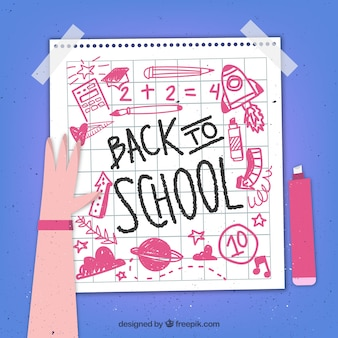 Nota de papel de volta à escola