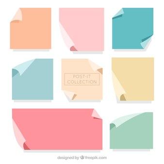 Notas adesivas com cores diferentes