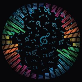 notas da música de fundo vector