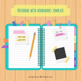 Notebook com acessórios