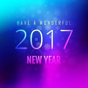 Novo brilhante ano de 2017 de fundo